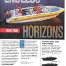 1991 Four winns Horizon Boat Color Ad- Nice Photo- Hot Girl