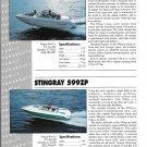 1991 Stingray 596ZP & 599ZP New Boats Color Ad- Specs & Photos