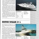 1991 Boston Whaler 31 L & Tiara 270 New Boats Color Ad- Specs & Photos