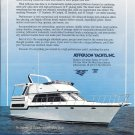 1991 Jefferson 42 Viscount Sundeck Motor Yacht Color Ad- Nice Photo
