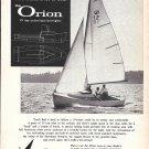 1962 Sailstar Orion 19' Boat Ad- Nice Photo