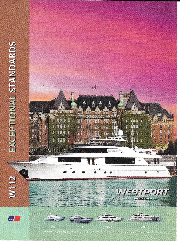2011 Westport W112 Yacht Color Ad- Nice Photo