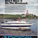 1987 Regal Boat Color Ad- Nice Photo- Hot Girl