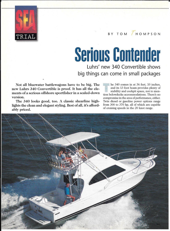 2000 Luhrs 340 Convertible Yacht Review- Nice Photos & Specs