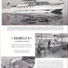 "1954 Huckins Fairform Seafarer Yacht 4 Page Ad- Nice Photos of ""Susabelle B"""