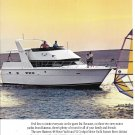 1991 Hatteras 48 & 52 Motor Yachts 2 Page Color Ad- Nice Photo