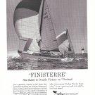"1958 Woolsey Marine PaintsAd- Nice Photo of Yacht ""Finisterre"""