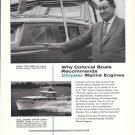 1958 Chrysler Marine Engines Ad-Photo of Colonial 38 Cruiser & Ike Swain