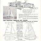 1958 George O'Day Boats Ad- rawing of Day Sailers & Photo of Atalanta