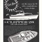 1958 Cruis Along Clipper 28 Boat Ad- Nice Drawings