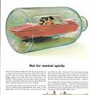 1967 Johnson Sea- Foil Caprice Boat Color Ad- Nice Photo
