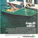 1967 Traveler Panther 15' Boat Color Ad- Nice Photo- Hot Girl