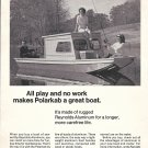 1967 Reynolds Aluminum Ad- Nice Photo of Polarkab Boat- Hot Girls