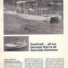 1967 Reynolds Aluminum Ad- Nice Photo of DuraCraft Aqua- Liner & Duraflite Boats