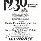1930 Johnson Sea- Horse Outboard Motors Ad
