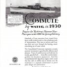 """1929 Consolidated Shipbuilding Ad- Nice Photo 66' Yacht """"The Redwing"""""""