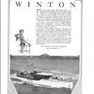 "1929 Winton Marine Engines Ad- Nice Photo of 88' Yacht ""Saga"""