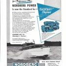1954 Nordberg Marine Engines Ad- Nice Photo 1955 Flagliner Express Boat