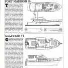 1985 Port Madison 50 & Gulfstar 44 New Boats Ad- Specs & Drawings