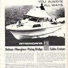 1969 Stamas Americana V26 Cabin Cruiser Yacht Ad- Nice Photo