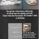 1969 Pacemaker 38' Double Cabin Cruiser Yacht Color Ad- Nice Photos
