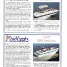 1995 Four Winns 214 & Regal 240 New Deckboats Ad- Specs & Photos