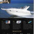 1998 Maxum Sun Cruiser Boat Color Ad- Nice Photo