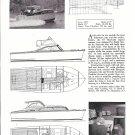 1962 Martin Maycraft 30' Cruiser Boat Ad- Photo- Drawing- Specs