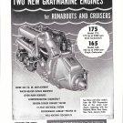 1954 Graymarine Model 175 Marine Motor Ad- Nice Photo