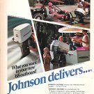 1968 Johnson Outboard Motors 2 Page Color Ad-Nice Photos of 6 Models