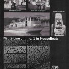 1968 Nauta- Line 43' Houseboat Ad- Nice Photos