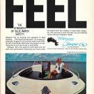 1969 Glasspar 18' Cutlas Boat Color Ad- Nice Photo- Hot Girl