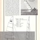 1969 Coast Catamaran Hobie Cat 14 Ad- Photo- Drawing- Specs