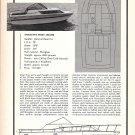 1969 Slickcraft 28' SC-285 Boat Ad- Photo- Drawing- Specs