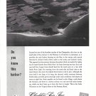 1961 Chubb Insurance Ad-Nice Photo of Little Wicomico on Virginia Shore