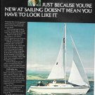 1975 Columbia T-23 Sailboat Color Ad- Nice Photo