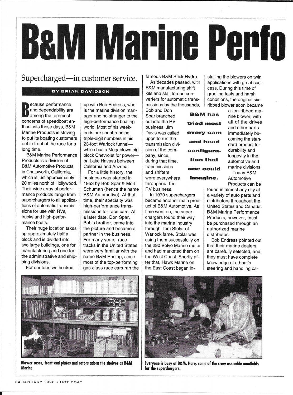 1996 B & M Marine Article & Nice Photos