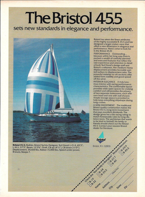1980 Bristol 45.5 Yacht Color Ad- Specs & Photo