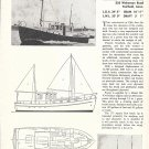 1963 Kenneth L Smith 34' Power Cruiser Boat Ad- Photo-Drawing- Specs