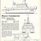 1963 MacLear & Harris 45' Power Catamaran Ad- Drawings & Specs
