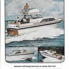 1964 Chris- Craft Constellation Yachts Color Ad- Photo of 37- 57 & 27