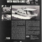 1969 Nauta- Line 43' Houseboat Ad- Nice Photo