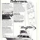 1980 Uniflite 42' Convertible Yacht Ad- Nice Photo