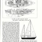 1972 Whitby 42 Cruising Ketch Ad- Specs & Drawings