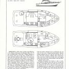 1982 Black Fin 39 Sport Fisherman Yacht Ad- Specs & Drawings