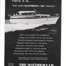 1963 Matthews 36 Sedan Yacht Ad- Nice Photo