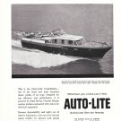1956 Electric Auto- Lite Ad- Nice Photo of Chris- Craft 54' Constellation Yacht