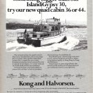 Old Kong and Halvorsen Island Gypsy Yacht Ad- Nice Photo