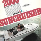 1977 Wellcraft Suncruiser 20' Boat Color Ad- Nice Photo
