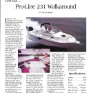 1995 Pro- Line 231 Walkaround Yacht Review- Nice Photo & Specs